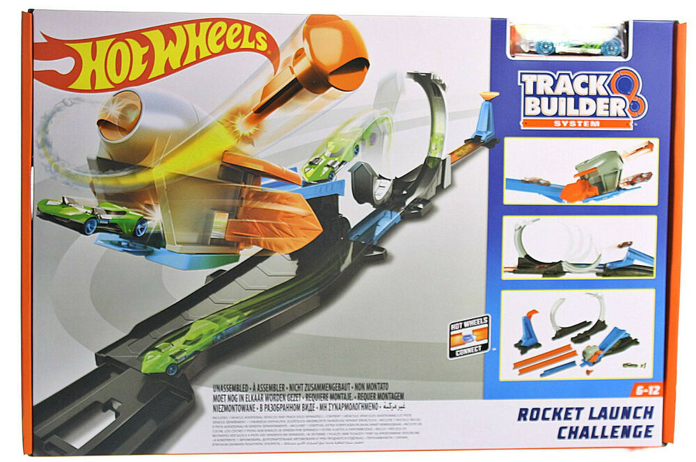 hot wheels track builder raketenstart challenge. Black Bedroom Furniture Sets. Home Design Ideas