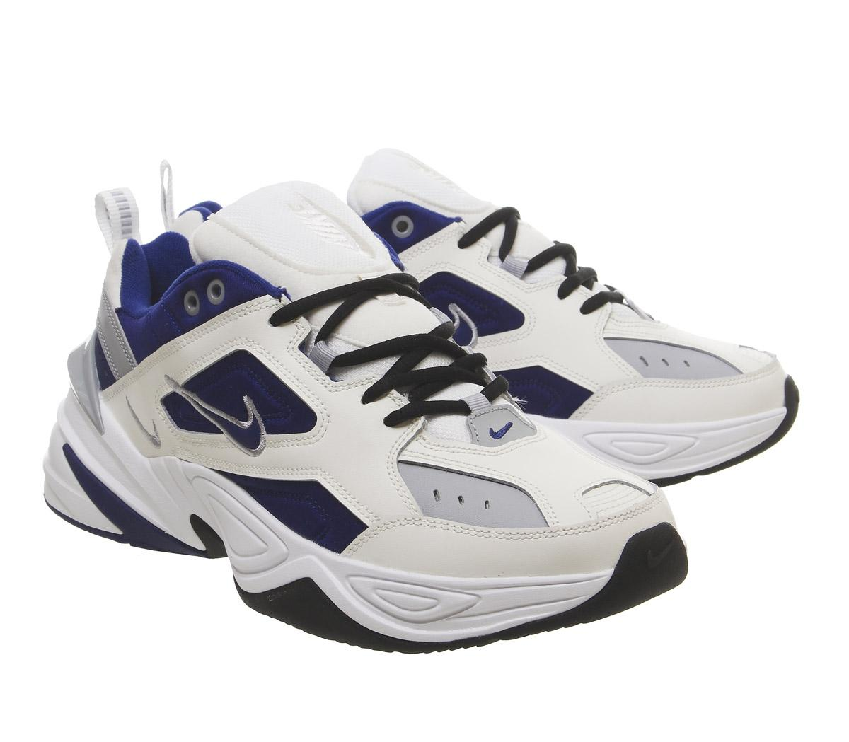 differently latest fashion famous brand Nike M2k Tekno Trainers Sail Deep Royal Blue Wolf Grey White Black
