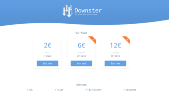 Downster.net 25% Rabatt – ul.to, ddownloadcom, filefactory.com & filer.net ab 1.50€ für 7 Tage